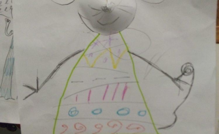 нашият мишо приятел, направен от децата в курса по немски език за деца София